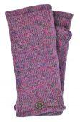 Fleece lined - Wristwarmers - heather mix -  pink