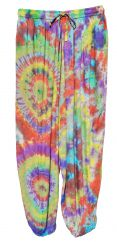 Tie Dyed Harem Trousers Subdued rainbow