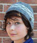 NAYA - Hand knit - classic twist - beanie - mid grey