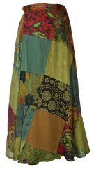 Extra fit Jaipuri  Patch Skirt Green