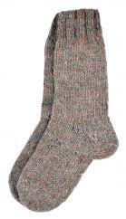 Pure wool hand knit socks  plain pale heather
