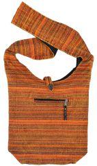 Heavy cotton stonewashed striped bag spice