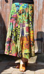Extra fit Jaipuri Patchwork Skirt Green 2