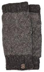 Fleece lined contrast border wristwarmer Brown