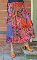 Jaipuri  Patchwork Skirt Pinks