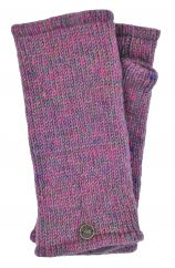 Fleece lined Wristwarmers heather mix  pink