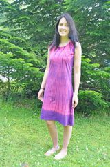 Midi Tie Dye Shift Dress Pink