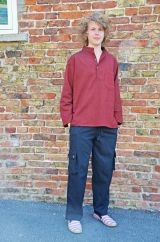 Two colour Sharma Shirt Maroon/Black