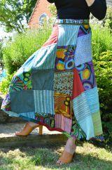 Jaipuri Patchwork Skirt Blue 2