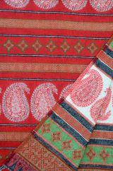 Paisley blanket shawl red