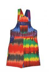 Tie dye dungarees rainbowish