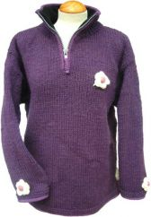 Fleece lined ladies pull on Soft Purple