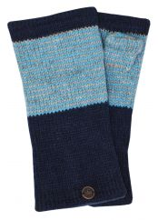 Fleece lined wristwarmer thin stripes dark blue