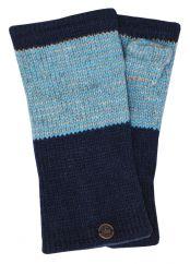 Fleece lined -NAYA wristwarmer thin stripes dark blue
