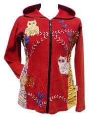 *****SALE*****  Owl Jacket Red