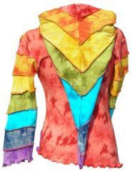 Pixie Hood Overlocked Pullon Rainbow
