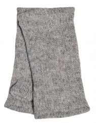 Children's Fleece Lined plain Wristwarmers Mid grey
