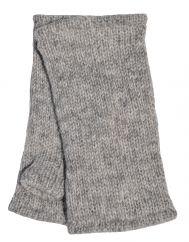 Children's Fleece Lined plain Wristwarmers Mid grey