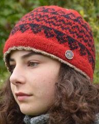 Pure new wool beanie Garva Red