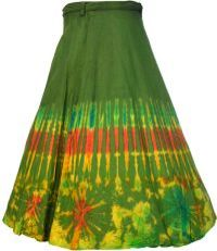 ***SALE*** Rainbow Border Wrapover Skirt Green