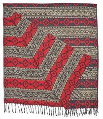 Diamond blanket/shawl Black/Red