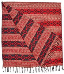 Diamond blanket/shawl Red/Black