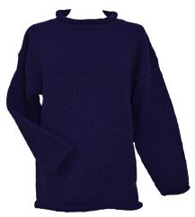 Pure wool hand knit  jumper Blue