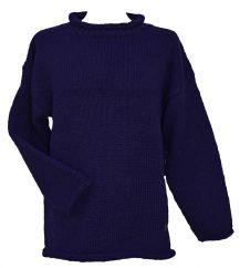 Pure wool hand knit  jumper Blue