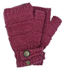 Fleece lined half mitt ridge Rose