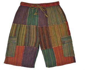 striped cotton shorts spice multi coloured