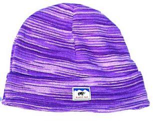 Soft cotton half fleece lined turn up beanie Purple